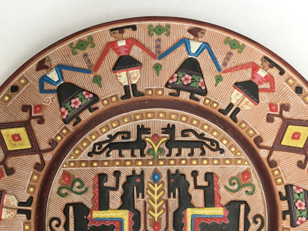 Earthenware wall plate, Italian? Horses & National costumes 6f009210