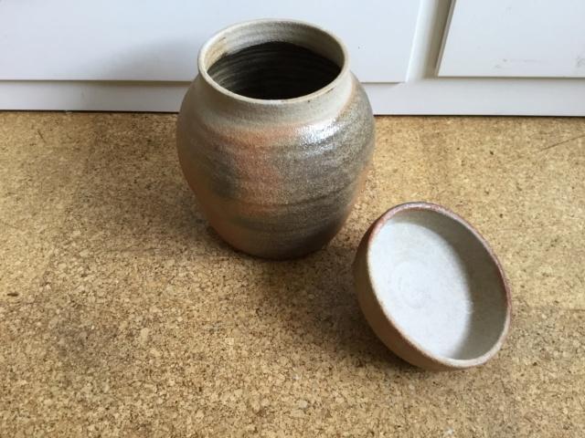 Wood fired Studio storage jar 70c16010