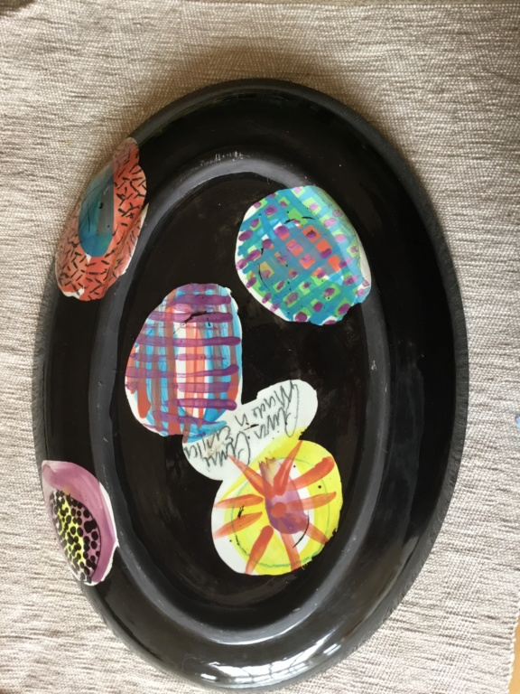 Wildly brightly coloured, Gwili Pottery style - Lorna Jackson Currie  77714b10