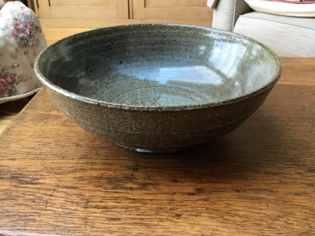 Studio stoneware bowl, foreign mark, Japanese? 78cdb010