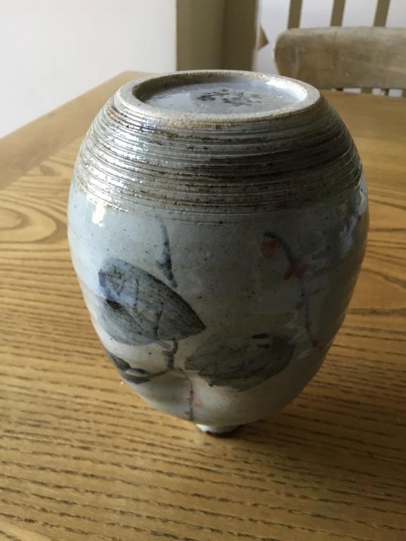 Stoneware studio vase, Japanese or Chinese mark?  7aa26e10