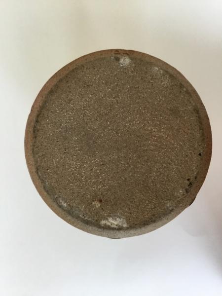 "7"" tenmoku stoneware studio jug AH monogram 7b5d0910"