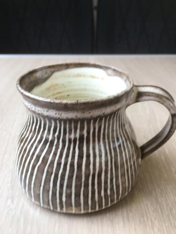 Striped studio stoneware mug  7d700010