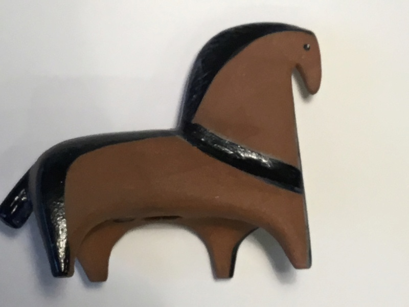 Horse, impressed E & painted C or U - Lisa Larson, Gustavsberg  7dacec10