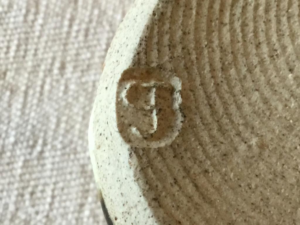 Studio stoneware vase, marked CF?  7db20110