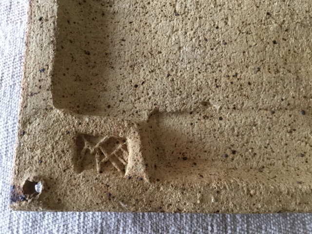 Stoneware studio cockerel plaque, marked 7f530810