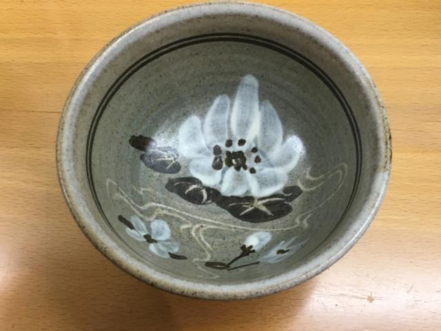 Studio stoneware bowl, flower mark - Calendula Pottery  808c5e10