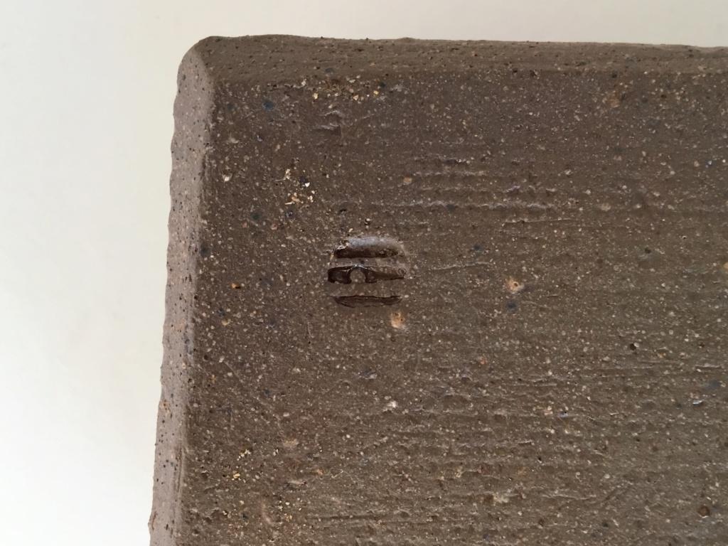 Slab stoneware rectangular point, lines mark 815d3010