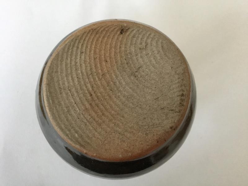Studio vase, tenmoku glaze? Unmarked 81d82f10
