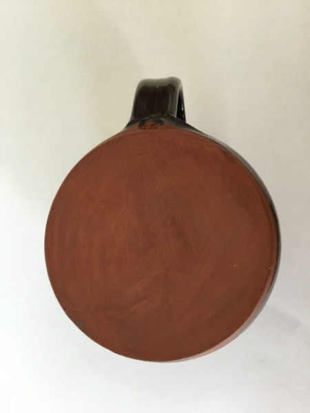 Earthenware face mug, F mark, cross, dots - Glaneirw Pottery, Wales  856a1e10