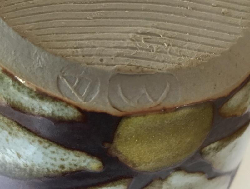 Dartington Pottery jug? Triangle mark with a semi circle and v mark 87cc1d10