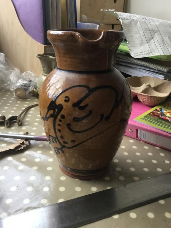 English Slipware bird decoration jug PL 93 mark 8cd9d510