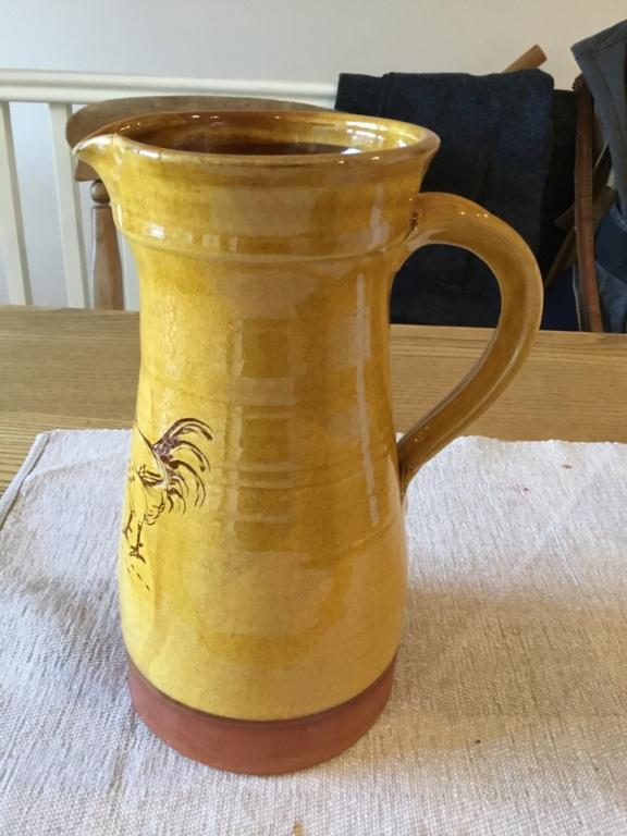 Traditional Slipware jug - chicken cockerel, no mark 8de91210
