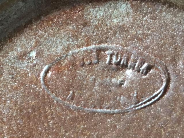Slipware swans dish, possibly Torquay, oval mark  8e4bde10