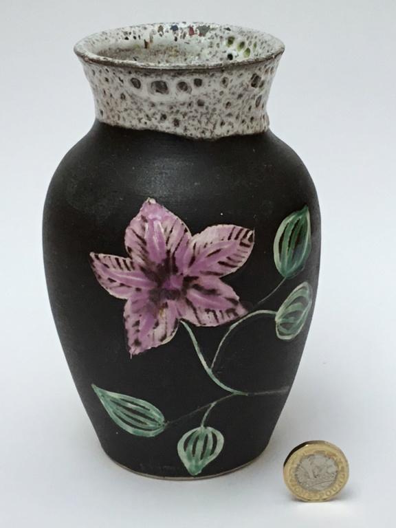 Stoneware lava flower vase 8edcc810