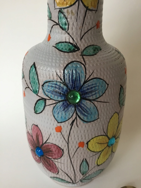 Italian hand painted jug with glass jewels. 910e9a10