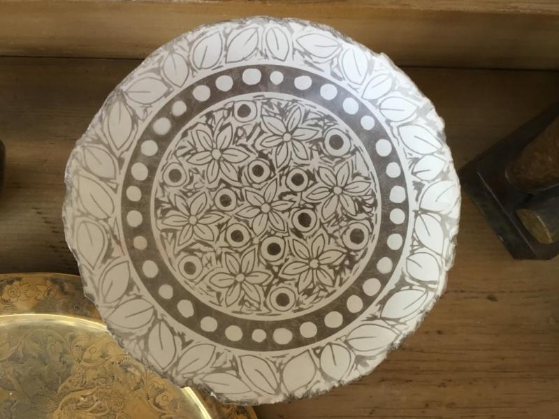 Raku Pedestal dish DB inscribed mark - Debbie Barber 929a4910