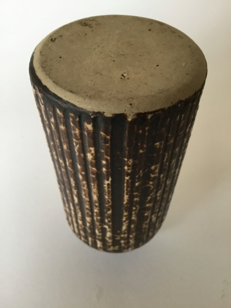 Stoneware fluted Bottle Vase, thrown or moulded? No mark 92e89f10