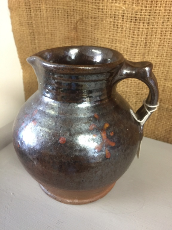 Stoneware jug, painted decoration, cross mark 93373310
