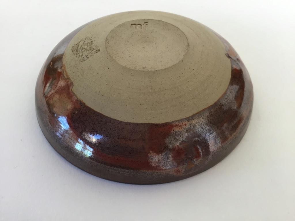 Tenmoku studio bowl mf mark  93b10a10