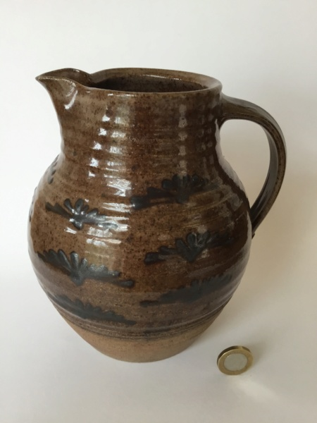 Stoneware jug SB or SP and WI Svend Bayer? 9b594b10