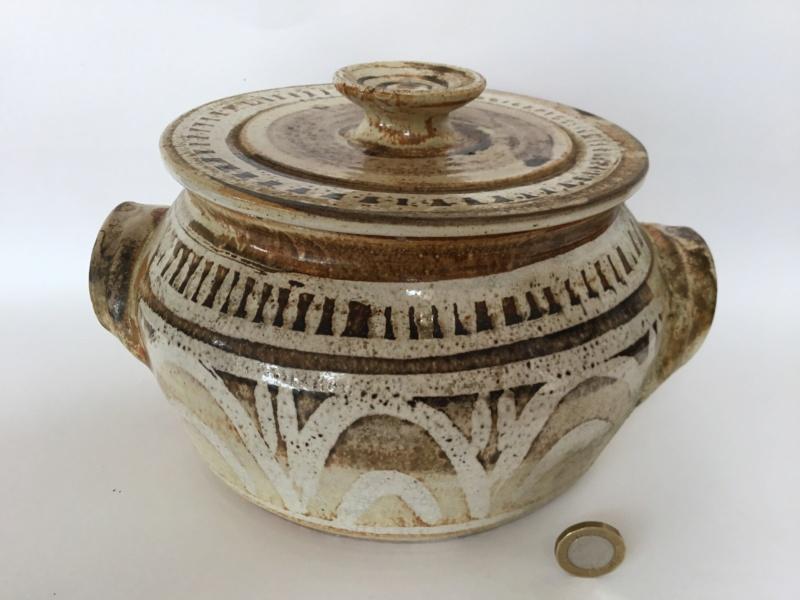 Casserole pot and lid,  marked Nolan CP - Wendy or Graham Nolan  9ff18b10