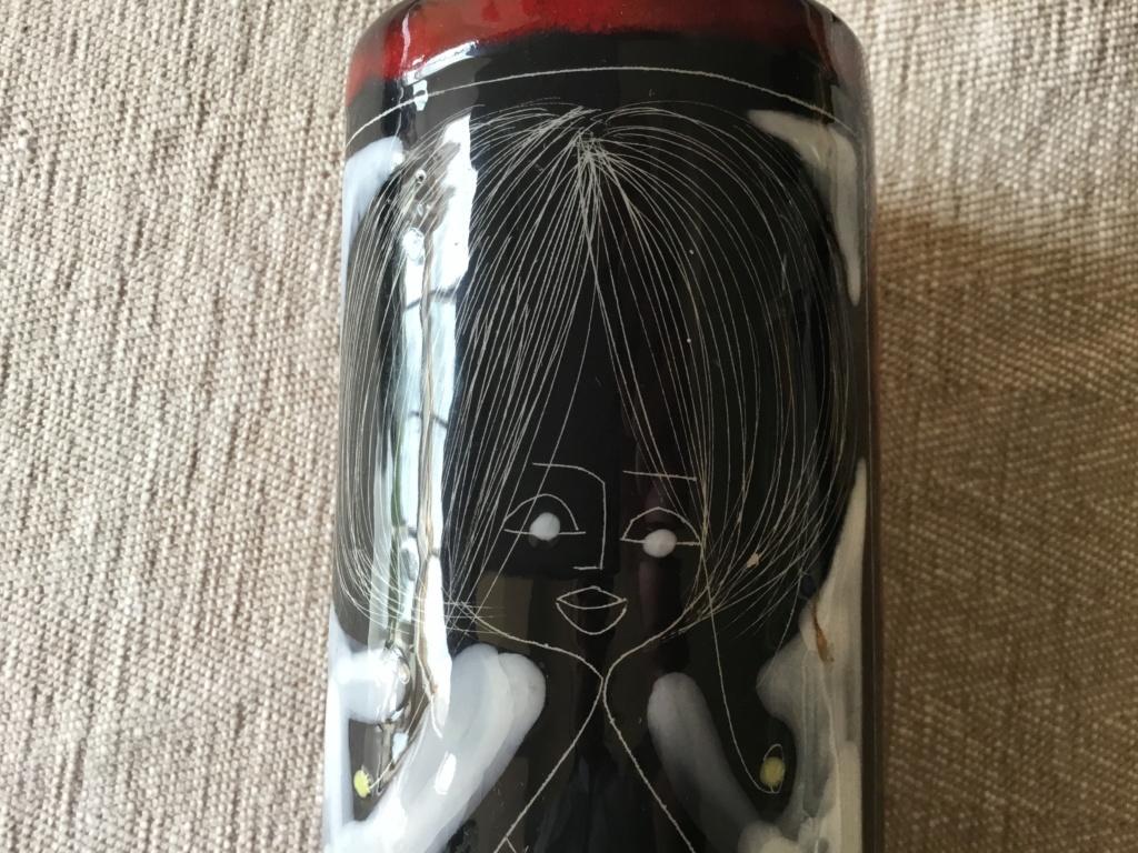 Marcello Fantoni style vase AM ITALY ROVIGO mark Ab3a6a10