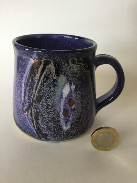 Purple cosmic pattern cup, unmarked - Lea Phillips Ad932e10