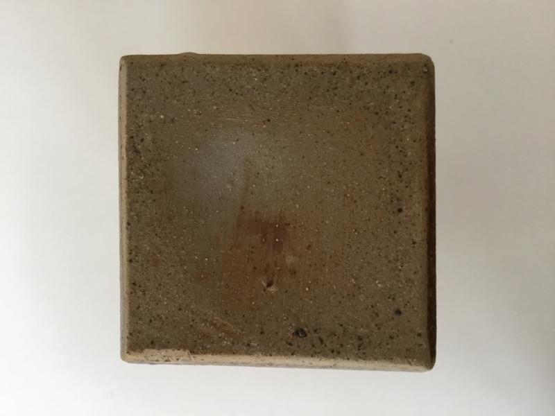 Cuboid stoneware vase AM or AHM mark - Alan Foxley  Afa76310