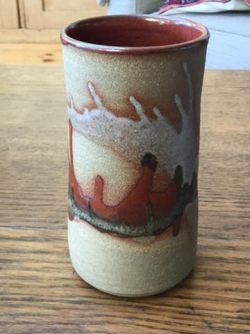 Studio cylinder vase, Graham Glynn?  B1fc9210