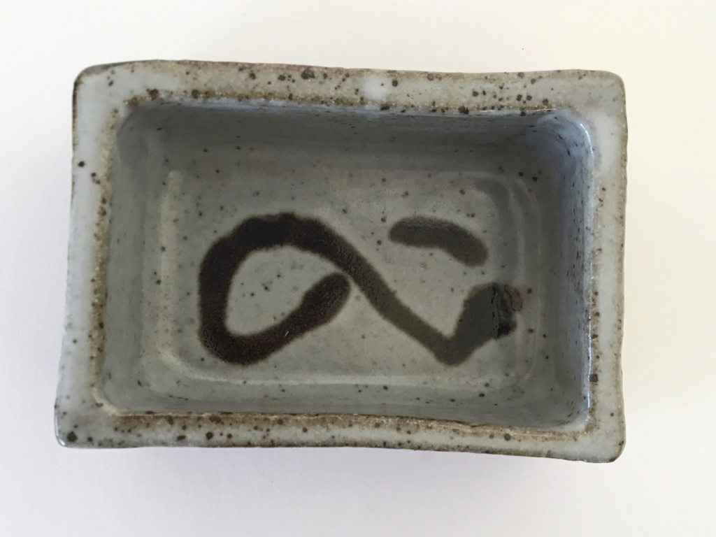 Slab stoneware rectangular point, lines mark B579eb10