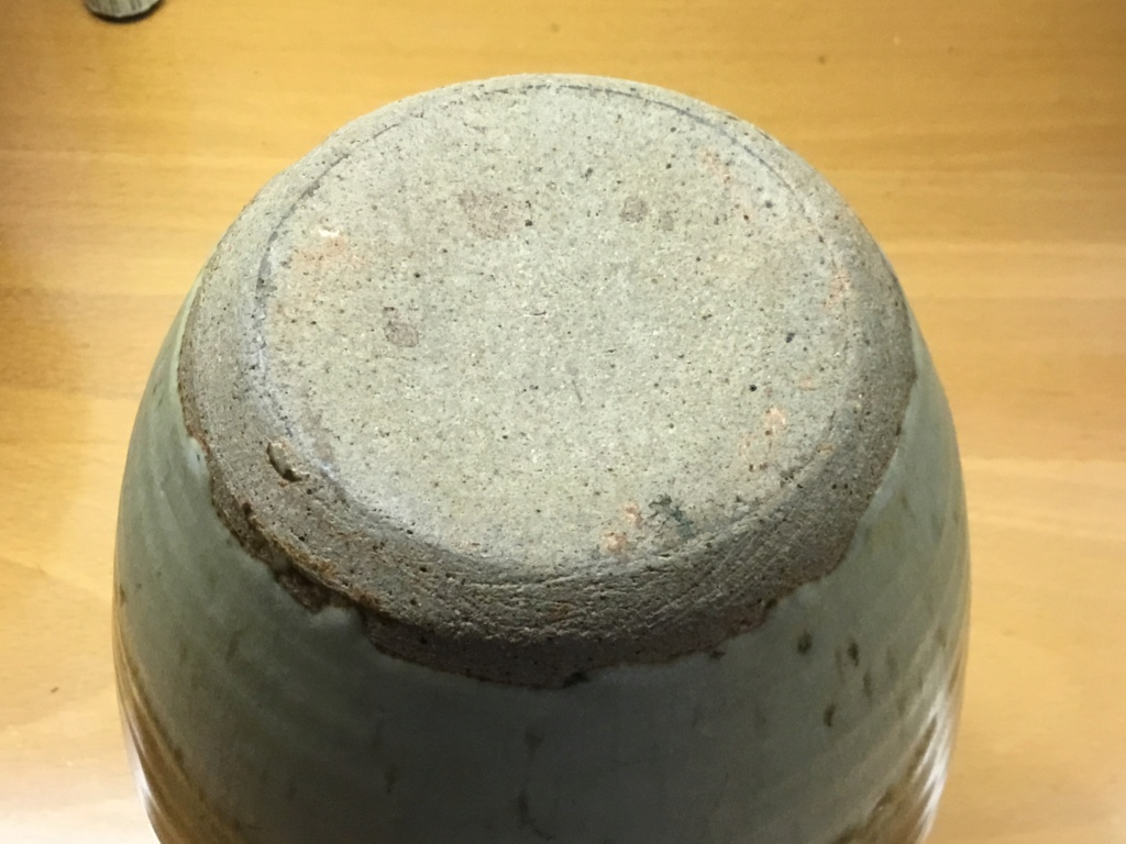Studio vase, green glaze, SM mark Ba993410