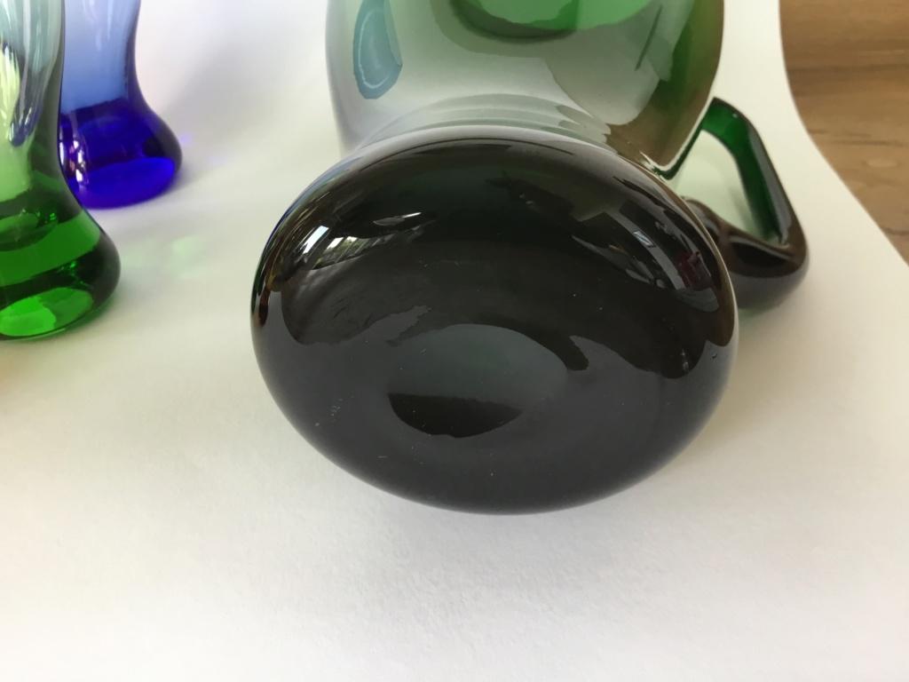 Green jug and coloured glasses set Bfc1b610