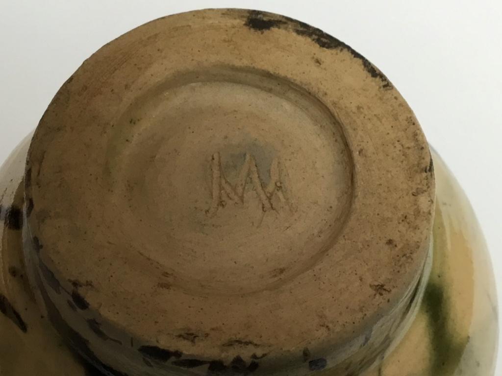 Stoneware studio vase VW mark C2a36910