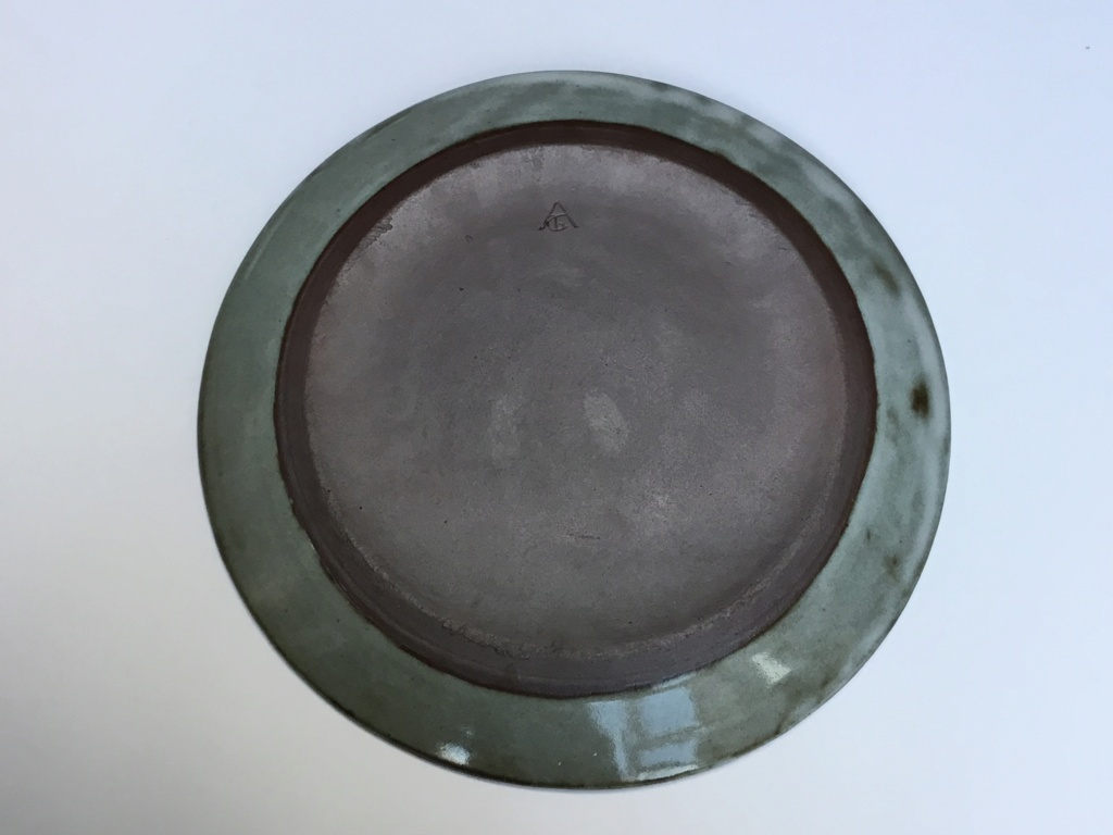 Stoneware studio plate Acb mark - Chantal and Thierry Robert, France  C636a110