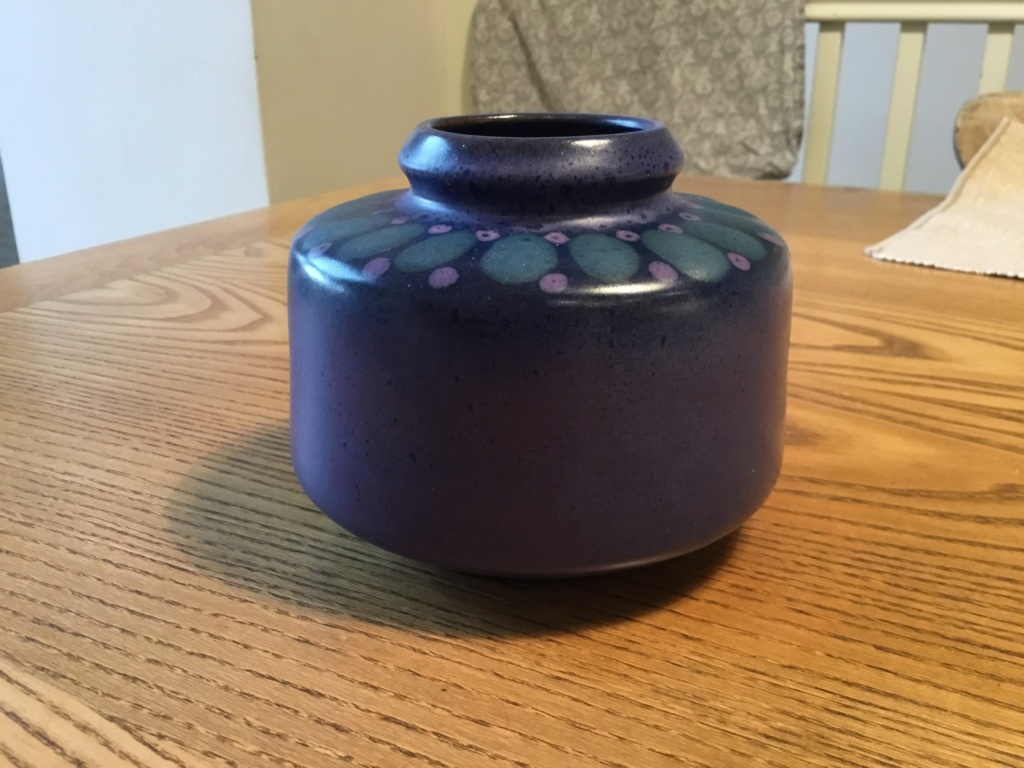 1970s style vase, purples & green - KMK  Cacb2d10