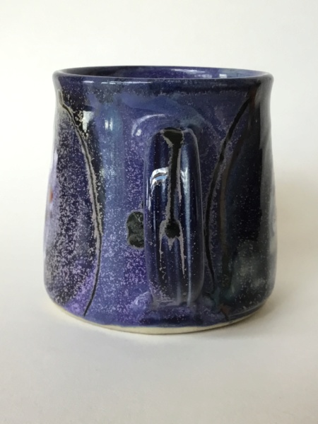 Purple cosmic pattern cup, unmarked - Lea Phillips D0fe6f10