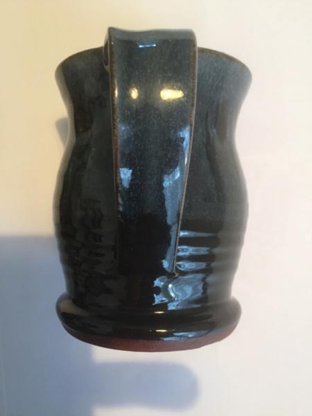 Decorated blue black studio cup - Elizabeth Bailey  D2d26510