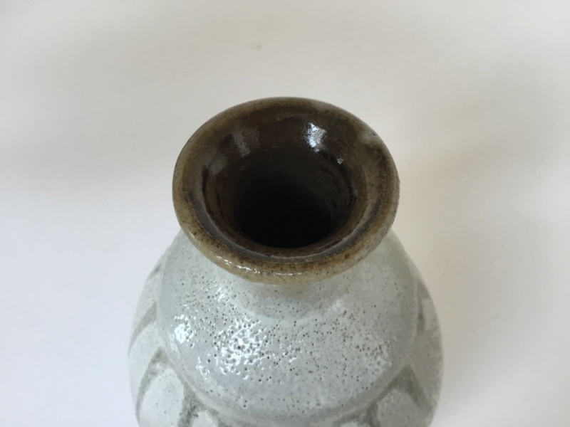 Greeny-Grey studio vase, drip decoration, unmarked  D43f1810