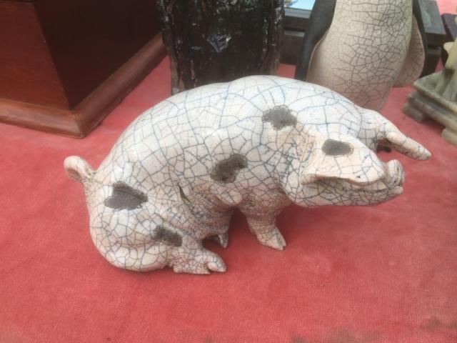 Raku pig by Christine Cummings Dc6f6510