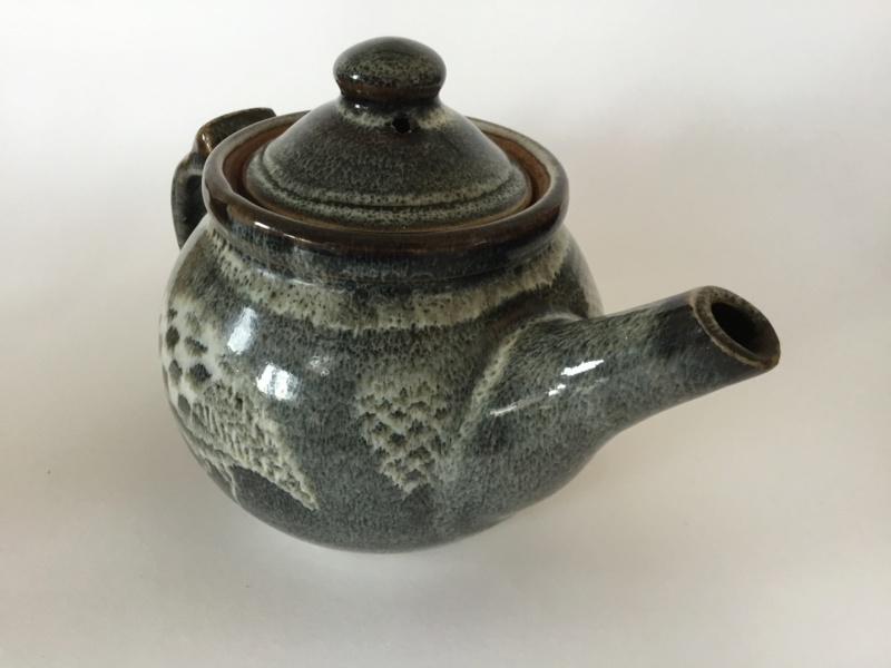 Stoneware studio teapot quail decoration - Chris Lewis  Dce9d410