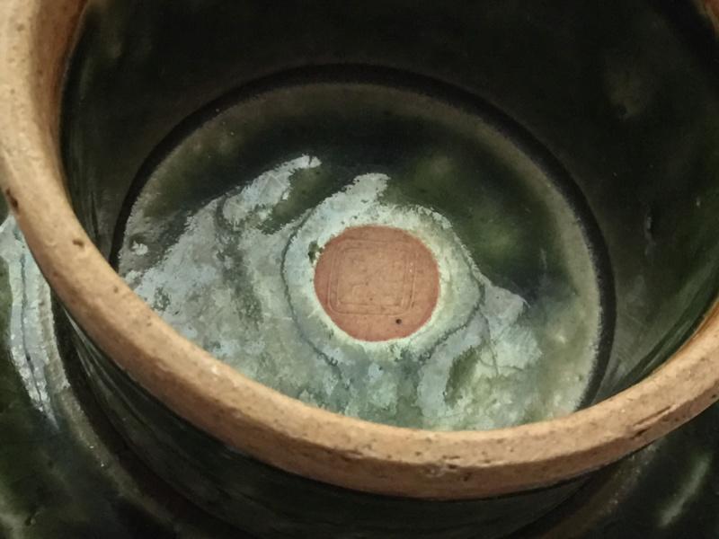 Japanese oribe ware Tazza, footed dish,  E30a6710