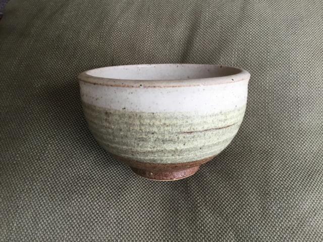 banded colours stoneware  studio bowl, marked E7f0ba10