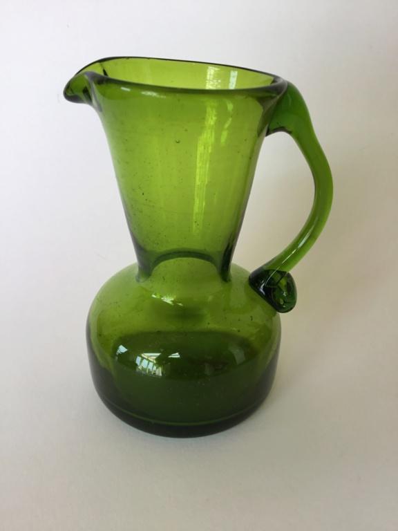 Olive green small jug. Whitefriars? Scandi?  E902aa10