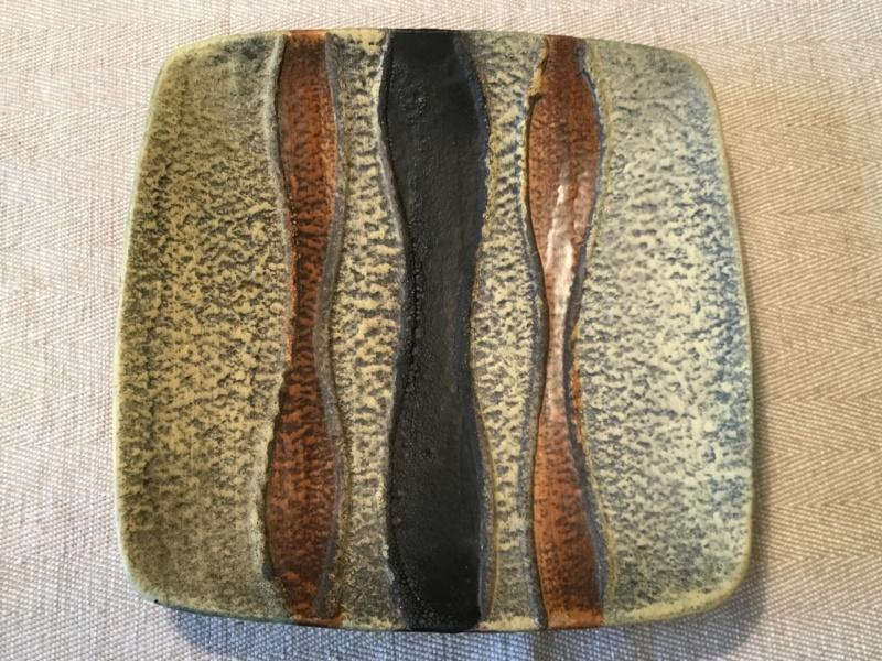 Very textured lava mid century dish F3de9a10