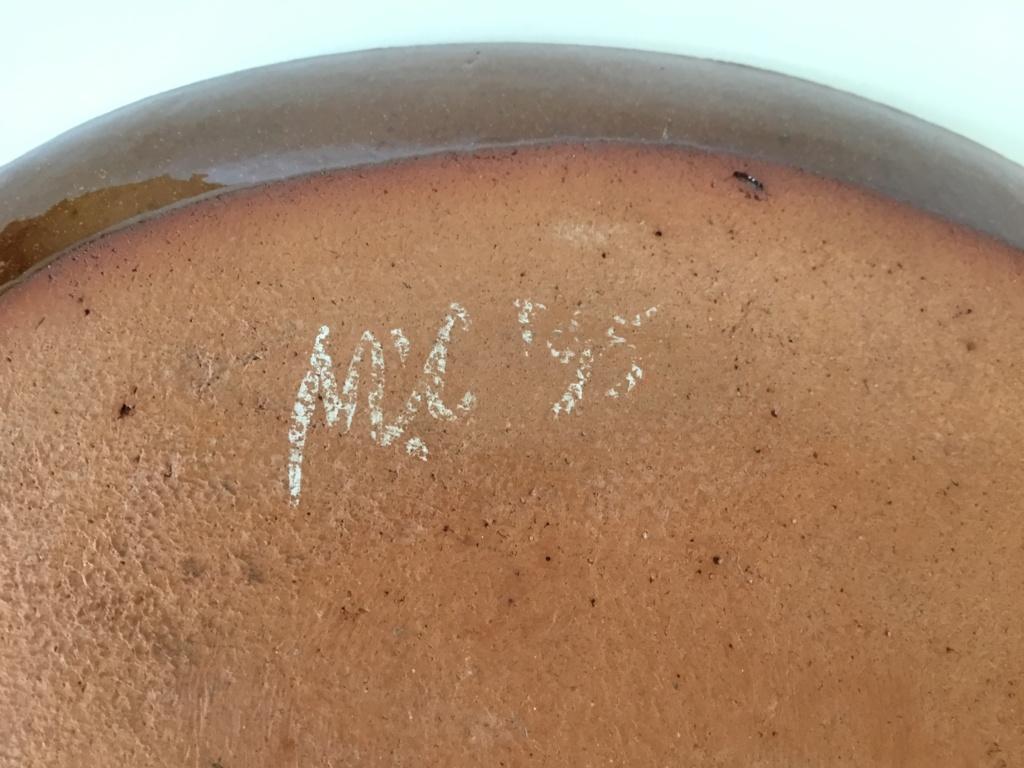 Slipware bird dish, MC or NIC 95 mark F66adb10