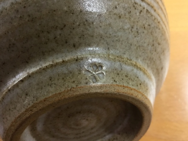 Studio stoneware bowl, flower mark - Calendula Pottery  F6afe810