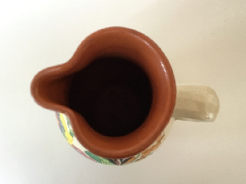 Art pottery sgraffito jug. Portugal? Italian? Signed F8914a10