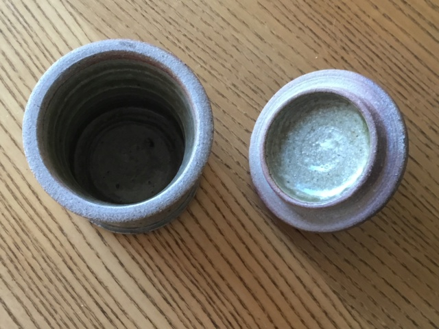 Small ash glaze jar, not Batterham?  Ffc1cb10