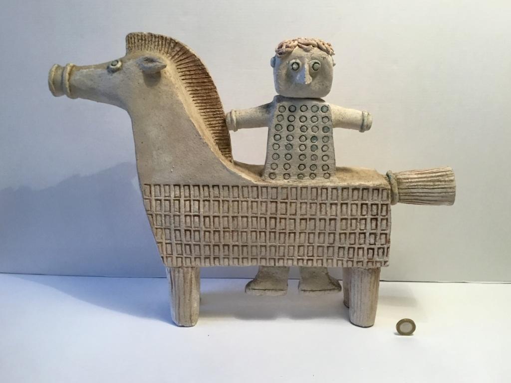 Horseman naive sculpture Ffd28e10